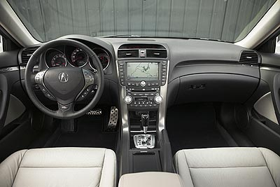 Acura TL Type-S  Interior Layout